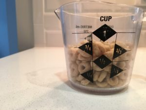 3/4 Cup of Cheerios = 1 Serving