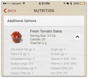Tomato Salsa at Chipotle
